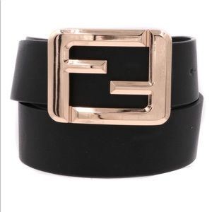 Accessories - Fiercely Fun Gold Square Buckle Belt